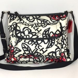 COACH F 16864 Poppy Daisy Graffiti Crossbody Bag